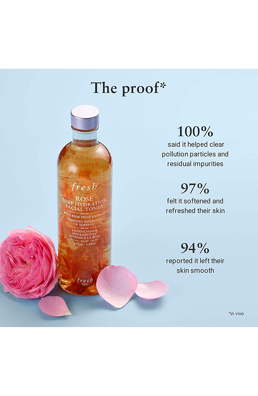 Fresh Rose Deep Hydration Facial Toner/Water 3.3 oz / 100 ml