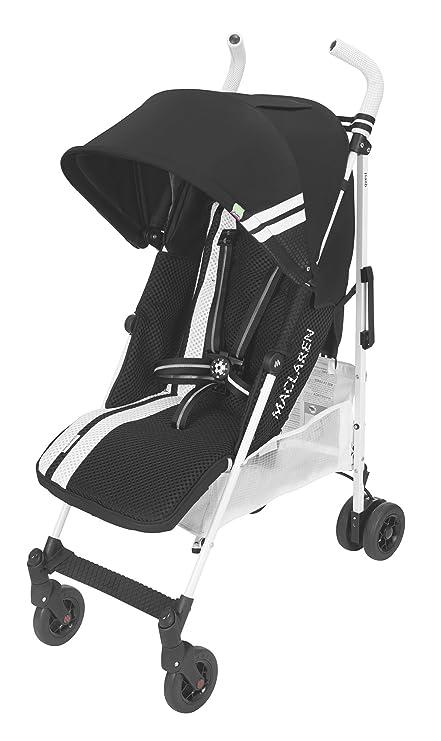Maclaren Quest FC Silla de paseo - ligero, para recién nacidos hasta los 25kg, Asiento multiposición, suspensión en las 4 ruedas, Capota extensible ...