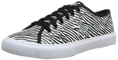 Le Coq Sportif Courteline Zebra - Zapatillas Mujer: Amazon.es: Zapatos y complementos
