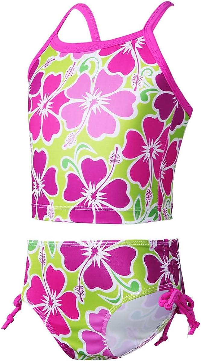 YiZYiF Kids Girls Tankini Bikini 2 Pieces Swimwear Swimming Bathing Suit