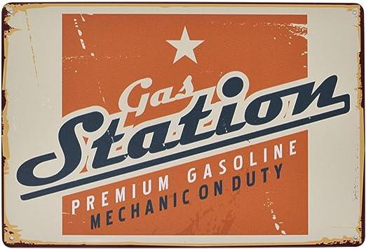 US SELLER Mechanic On Duty Garage tin metal sign home garden decoration
