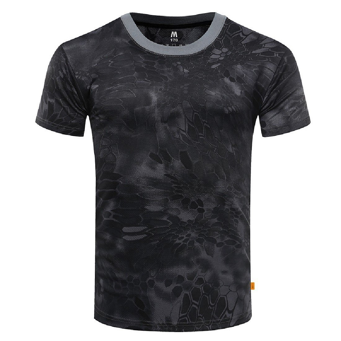 Comaba Men Cozy Breathable Camo Cool Dry Short Sleeve Tees Top Tshirts 1 XS by Comaba (Image #1)