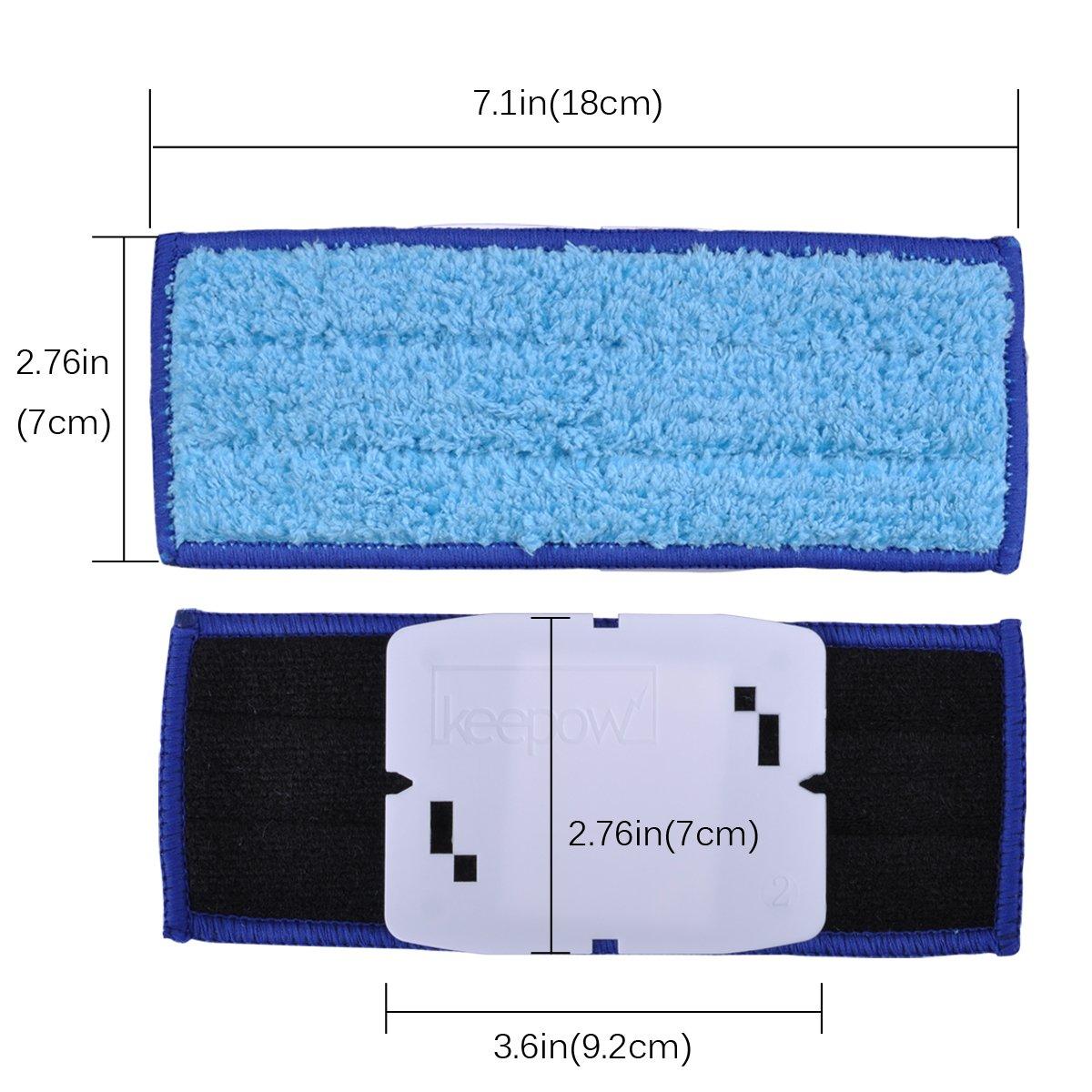 Pack de Mopas Lavables H/úmedos KEEPOW 3 Pack Mopas de Microfibra para Trapeador de iRobot Braava Jet 240 241