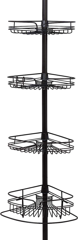 1. Zenna Home 2132HB, Tension Corner Pole Caddy