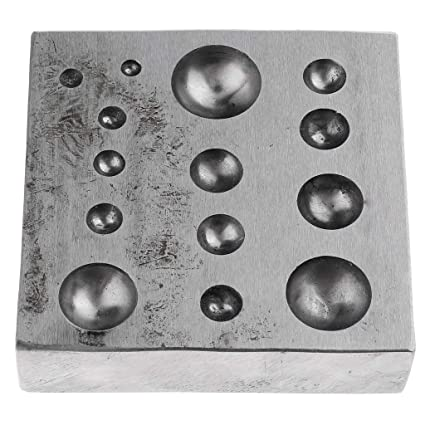 Amazon com: Prettyia Steel Dapping Block Design Forming