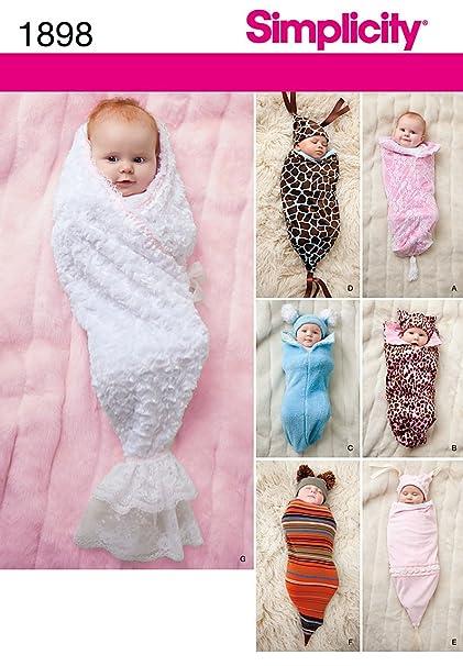 Amazon.com: Simplicity 1898 Babies Swaddling Sacks Sewing Pattern ...
