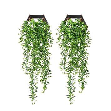 2dc9fbfd22cdc0 YGSAT 2 Pièces Faux Lierre|Plante Artificielle Lierre|Chute de Lierre|Feuille  Artificielle