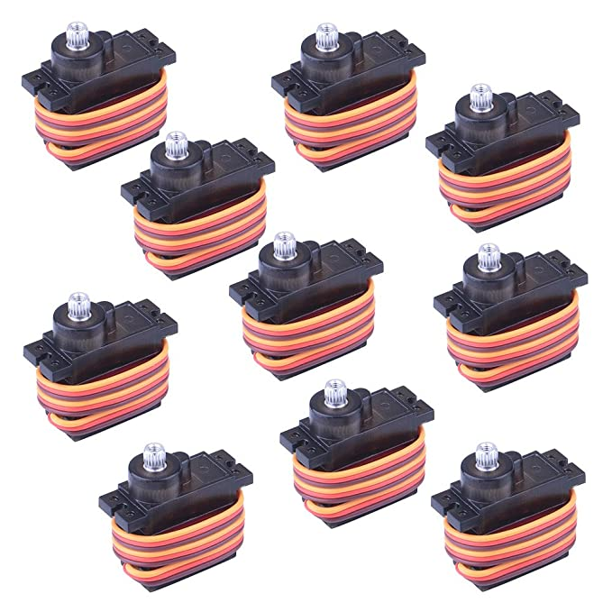 16 opinioni per Longruner 10Pcs MG90S Metal Geared Micro Servo Motor 9G For Helicopter Airplane