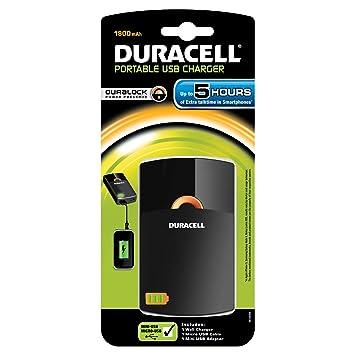Duracell PPS5H-EU - Cargador USB portátil (li-ion, 1800 mAh)