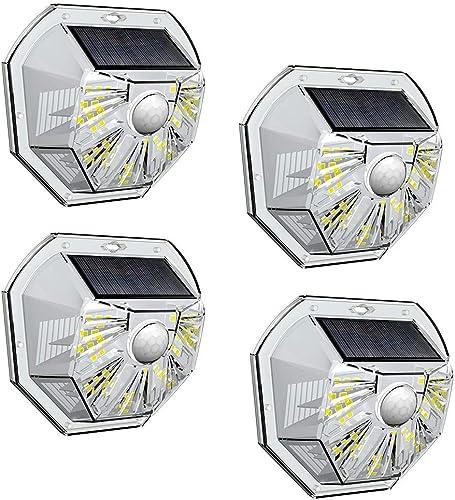 VOSONX Solar Lights Outdoor – Wireless Light Sensor Motion Sensor Light, 40 LEDs Solar Powered LED Wall Light, IP67 Waterproof Home Decor Security Lights for Outside, Backyard, Front Door 4 Pack