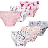Pack of 6 Slenily Little Girls Soft Cotton Underwear Kids Cool Breathable Comfort Panty Briefs Toddler Undies