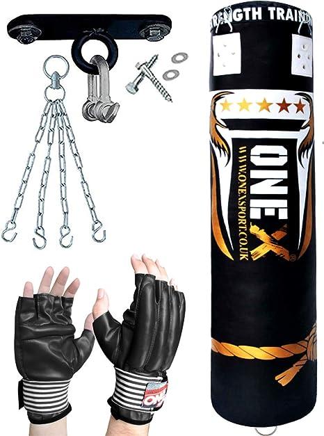 Boxing Punch Bag FILLED 5 Ft Bracket Chain Training Club  Kick MMA Equipment