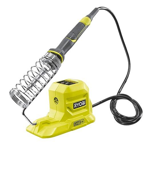 Ryobi 5133004382 R18SOI-0 - Soldador con batería (18 V, con punta de soldadura, punta de cincel, carrete de soldadura, control LED, diseño de lápiz): ...