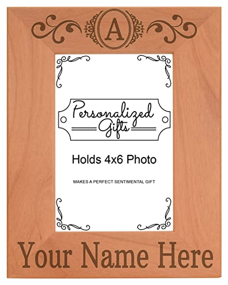 Amazon.com - Personalized Photo Frame Initial Monogram Crest with ...