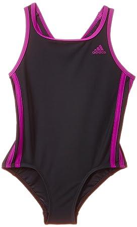 Adidas Maillot de Bain Femme infinitex 3–Stripes 104 cm Gris - Dark Grey  86ca5027504b