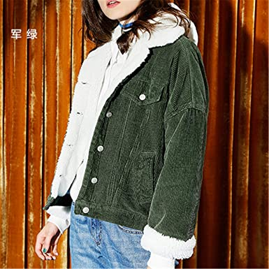 Newly Style Autumn Winter Outerwear Coats Lambswool Bomber Jacket Women Long Sleeve Jackets Casual Sin