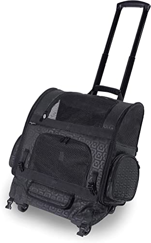 Gen7 Compact Roller Pet Carrier for Dogs and Cats Compact and Lightweight Converts to a Backpack