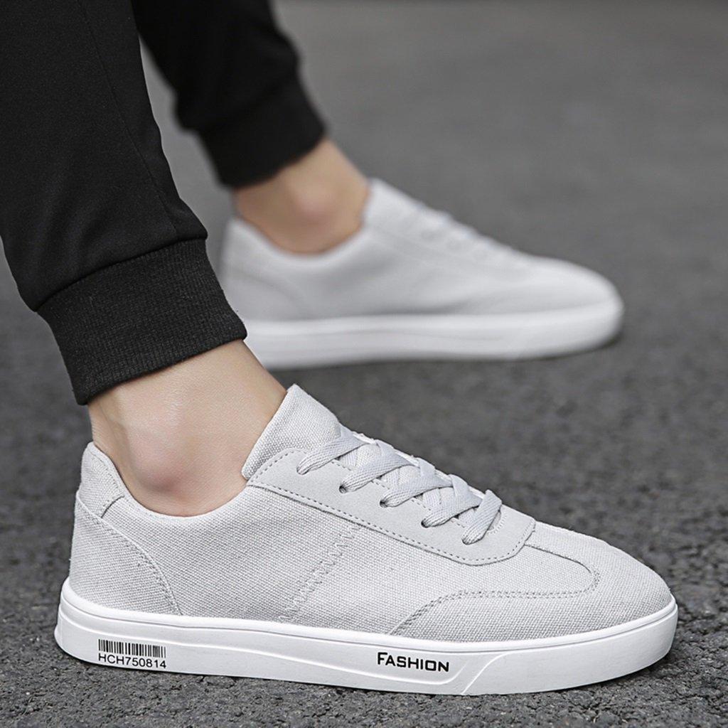 Neuer Stil Schuhe aus Segeltuch für Sommer Schuhe aus Atmungsaktivem Stoff im Angesagten Stil Koreanische Herrenschuhe Rettungsschuhe aus Segeltuch für Männer (Farbe: grau-42)