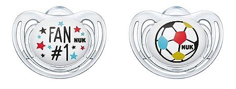 NUK 10176209 Freestyle silicona de chupete de fútbol de Edition ...