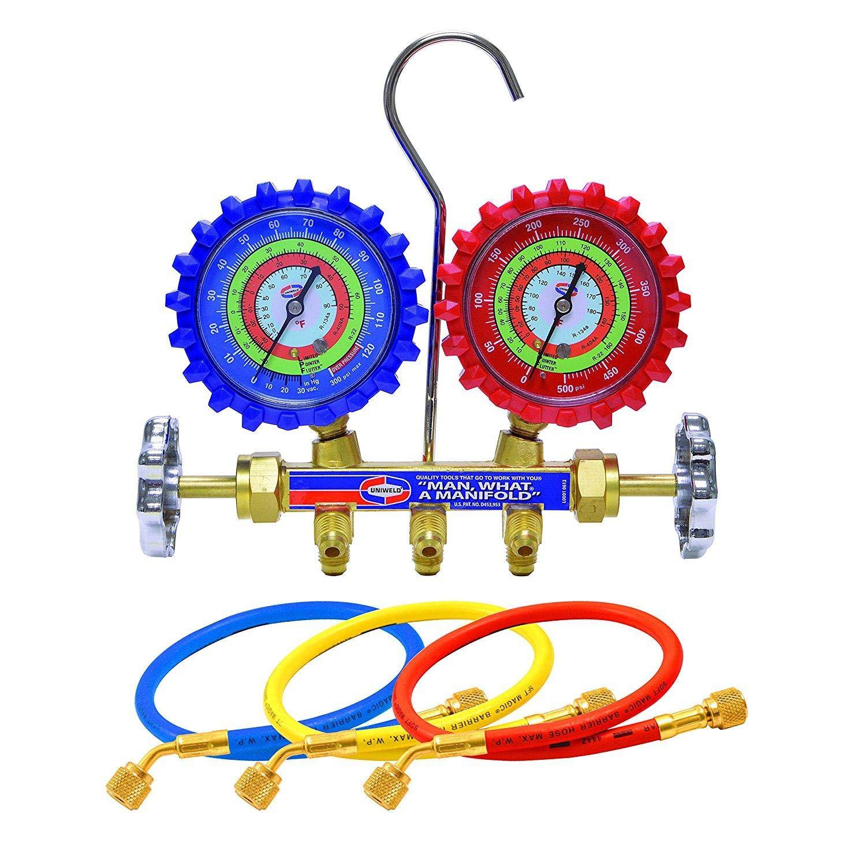 Manifold Gauge Set for R134a R12 R22 Gases Uniweld USA