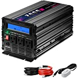 Novopal Power Inverter Pure Sine Wave Power Inverter 2000 Watt 3 AC Outlets DC 12v to AC 120v with Remote Control, Big LCD Display( Surge 4000W)