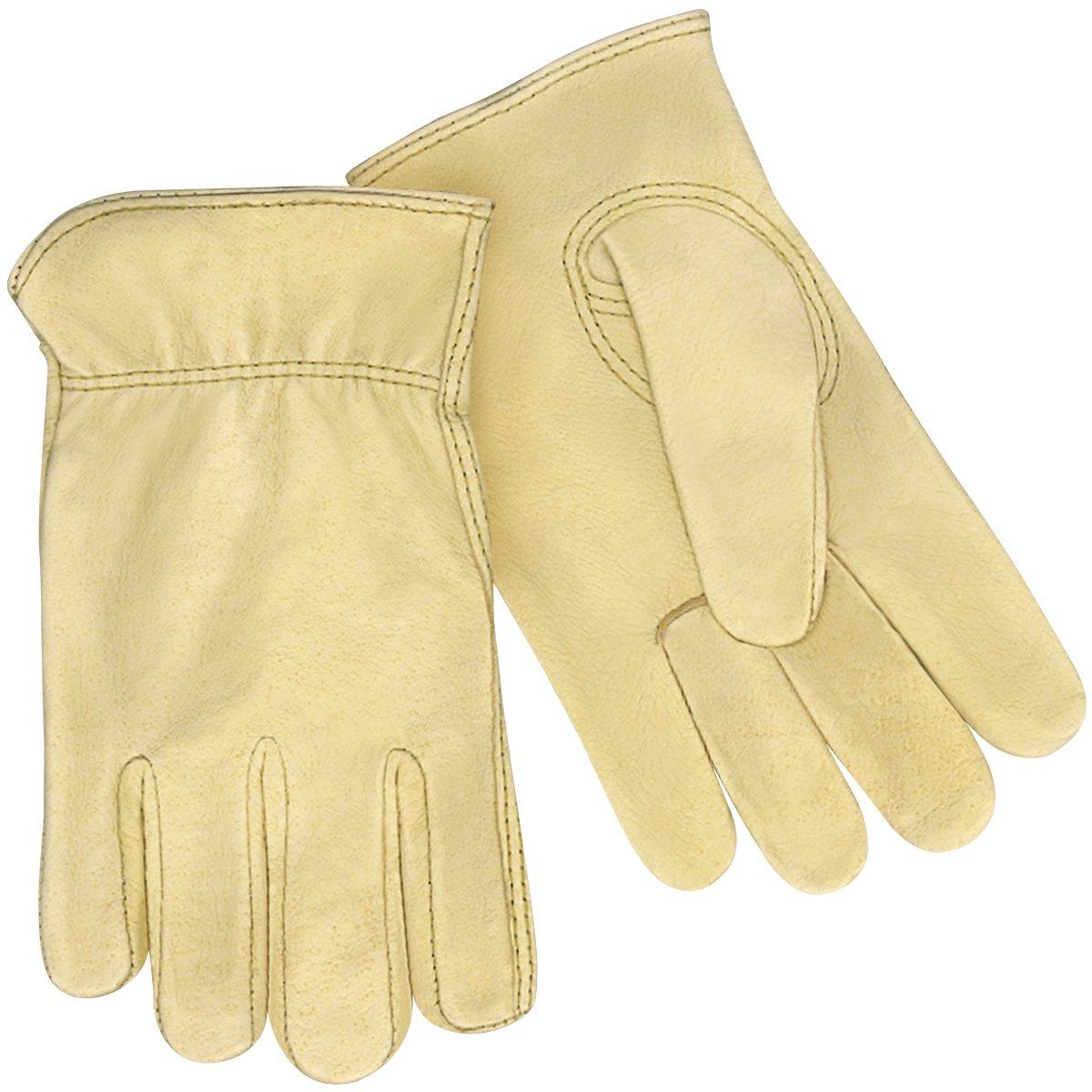 Steiner P241-M Drivers Gloves, Premium Grain Pigskin, Unlined, Shirred Wrist, Medium (12-Pack)