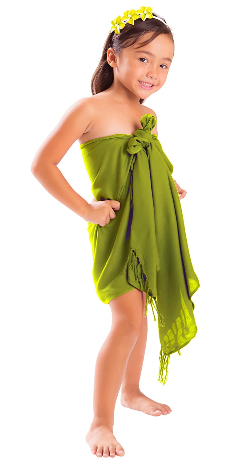 La Fleva 1 World Sarongs Girls Solid Color Half Sarong in your choice of color