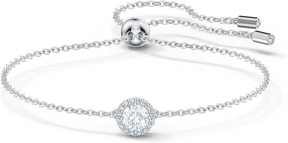 Swarovski Bracelet Angelic Round, blanc, métal rhodié: Amazon.fr ...