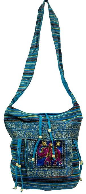 37b3ee287361 Hand Made Elephant Design Multi Color Indian Boho Dari Shoulder Sling Bag   210