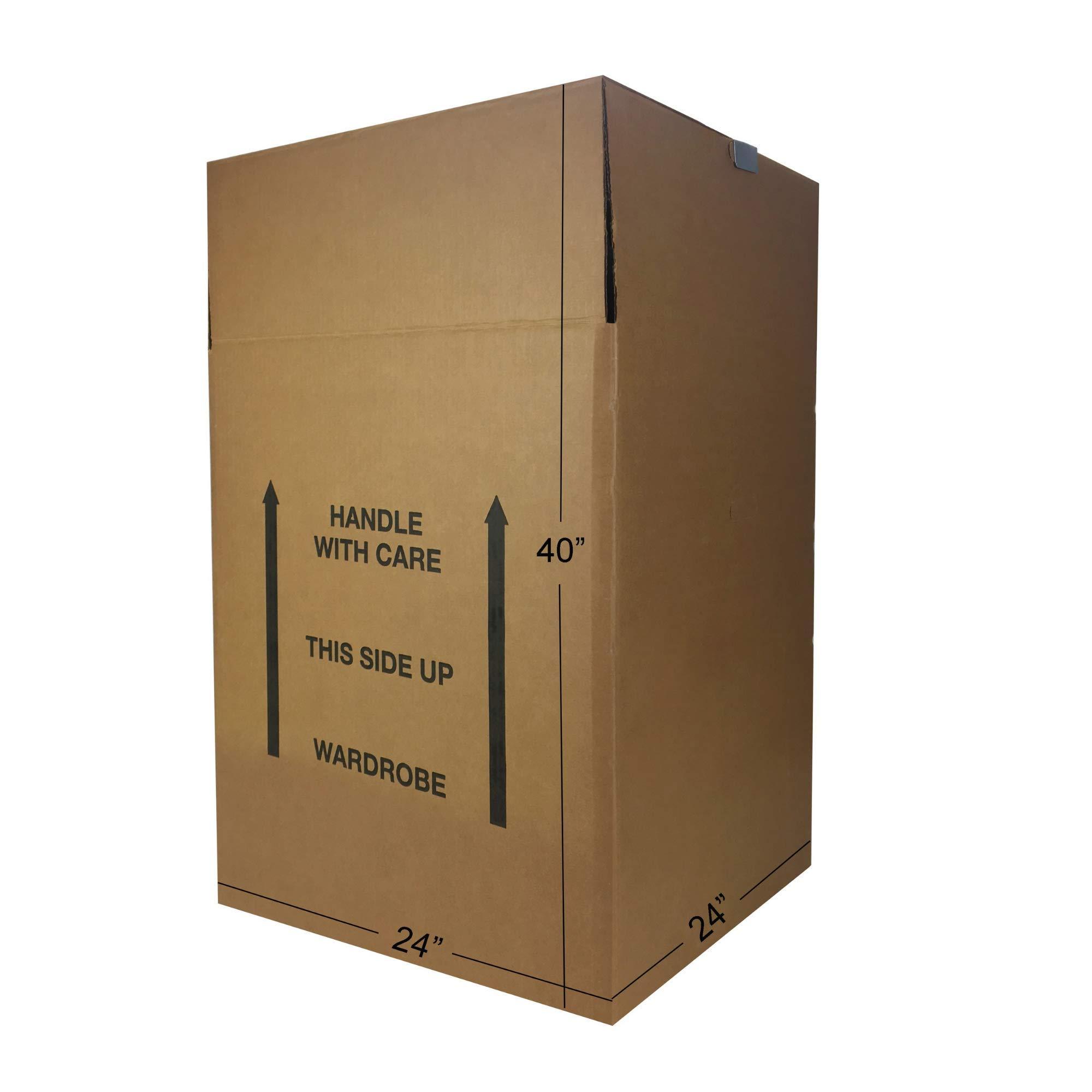 Uboxes BOXMINIWAR06 Shorty Space Saving Wardrobe Moving Boxes (Bundle of 6) 20'' x 20'' x 34'' Moving Boxes