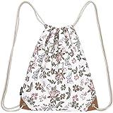 Samgoo zaino sportivo, sacca sportiva, sacchetto da ginnastica, fiori, farfalle, per i viaggi e lo sport