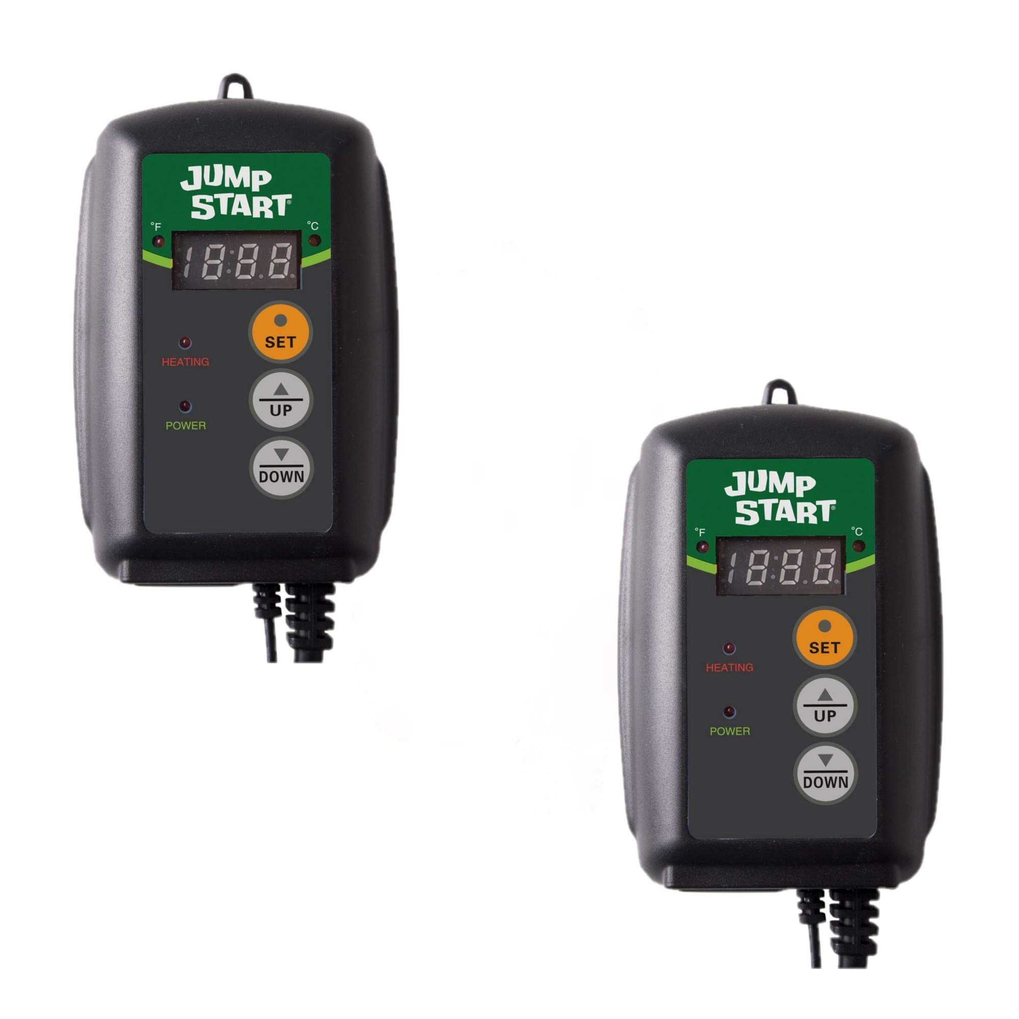 Hydrofarm Germination, Reptiles and Brewing Jump Start MTPRTC Digital Controller Thermostat for Heat Mats, Seed Ge, 9-by-19-1/2-Inch (2 Pack) (2) by Hydrofarm