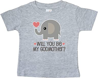 Will You Be My Godmother Baby T-Shirt 34a12 inktastic