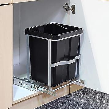 Mojawo Einbau - Abfalleimer für die Küche Mülleimer 14L Abfallkorb Müllkorb  Abfallsammler Abfallbehälter