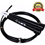 Crossfit Jump Rope–Speed Cable Jump Rope For CrossFit Boxing And MMA Athletes –Best rx Jump Rope For Beginners–Adult Jump Rope Exercise Tool–Perfect Jump Rope For Exercise
