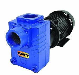 "AMT 2877-95 3"" Cast Iron Self-Priming Centrifugal Pump, 275gpm, 125psi, Buna-N Seal, 3hp"