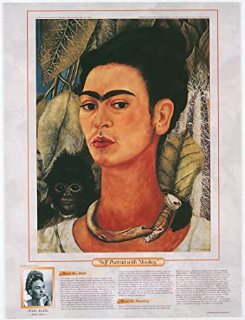 Self-Portrait with Cropped Hair 1940 by Frida Kahlo Art Print Poster 16x20