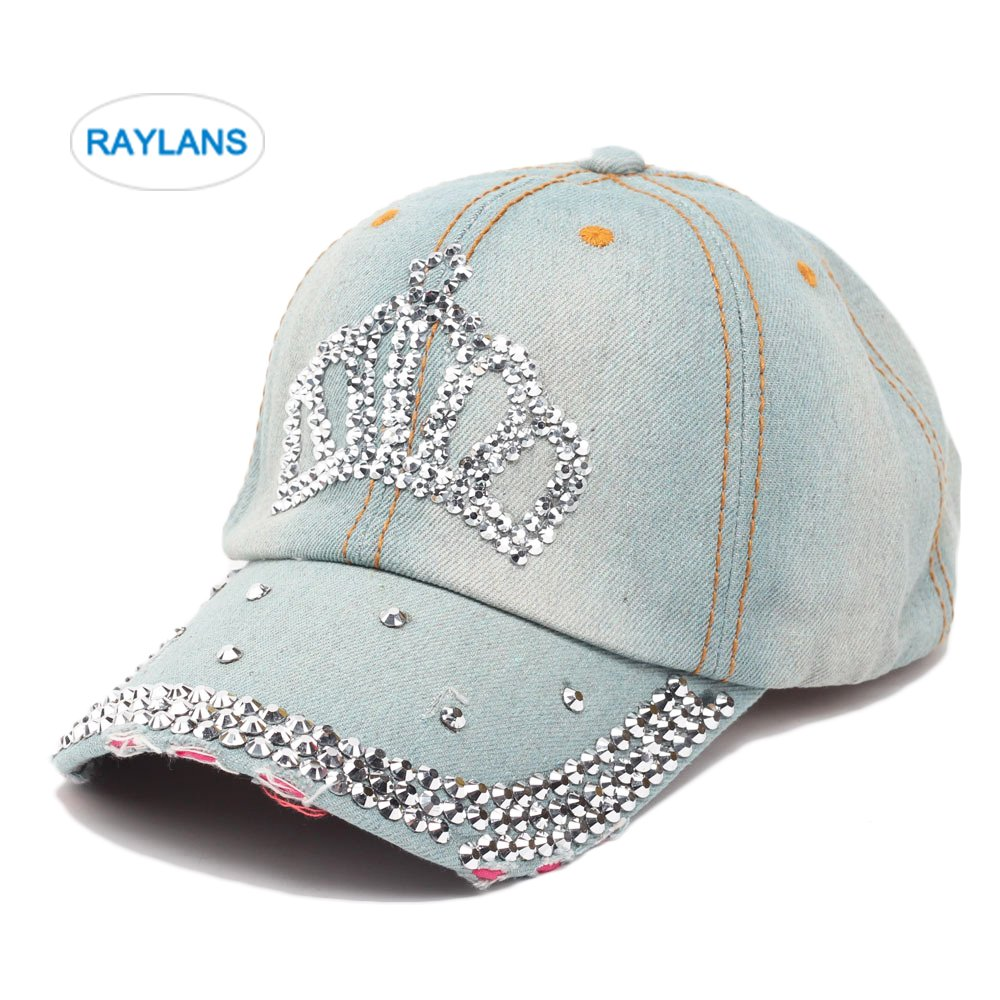 Raylans Women Men Adjustable Rhinestone Studded Bling Tennis Baseball Cap  Sun Cap Hat (  1) at Amazon Women s Clothing store  c448d02ae58