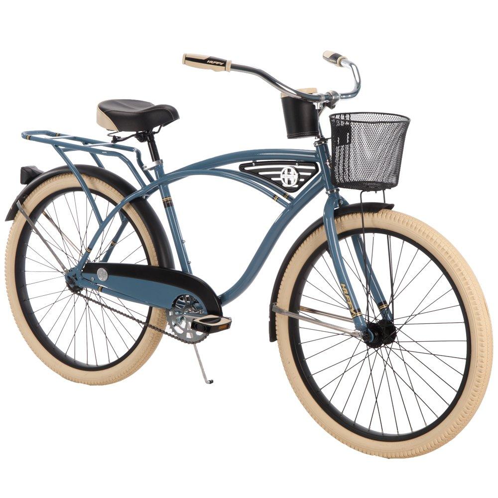 Huffy 26-inch Deluxe Men's' Cruiser Bike, Blue by Huffy (Image #8)