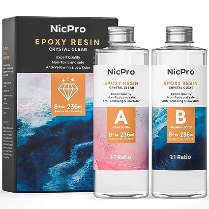Amazon com: Nicpro 2 Part Art Epoxy Resin 16 Oz  Starter