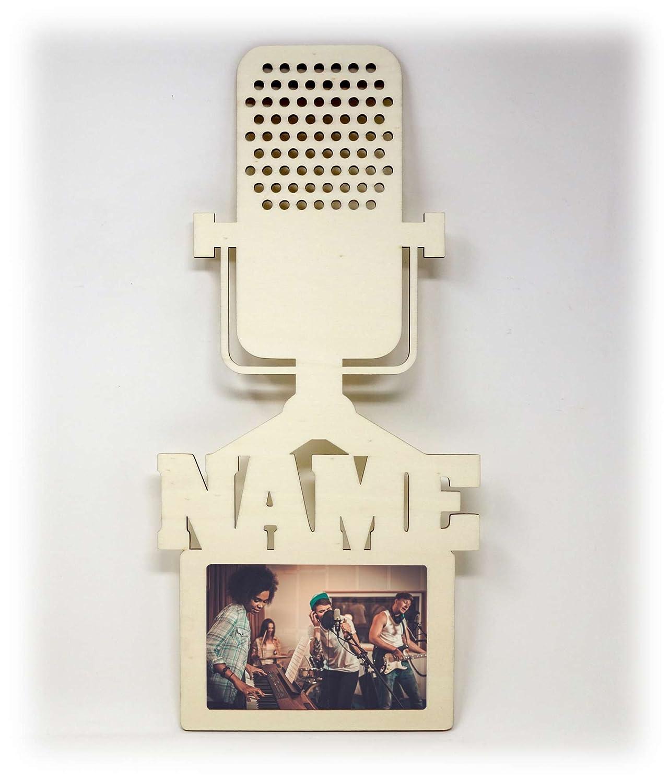 Mikro Mikrofon Bilderrahmen 10x15 Individuell mit Namen ...