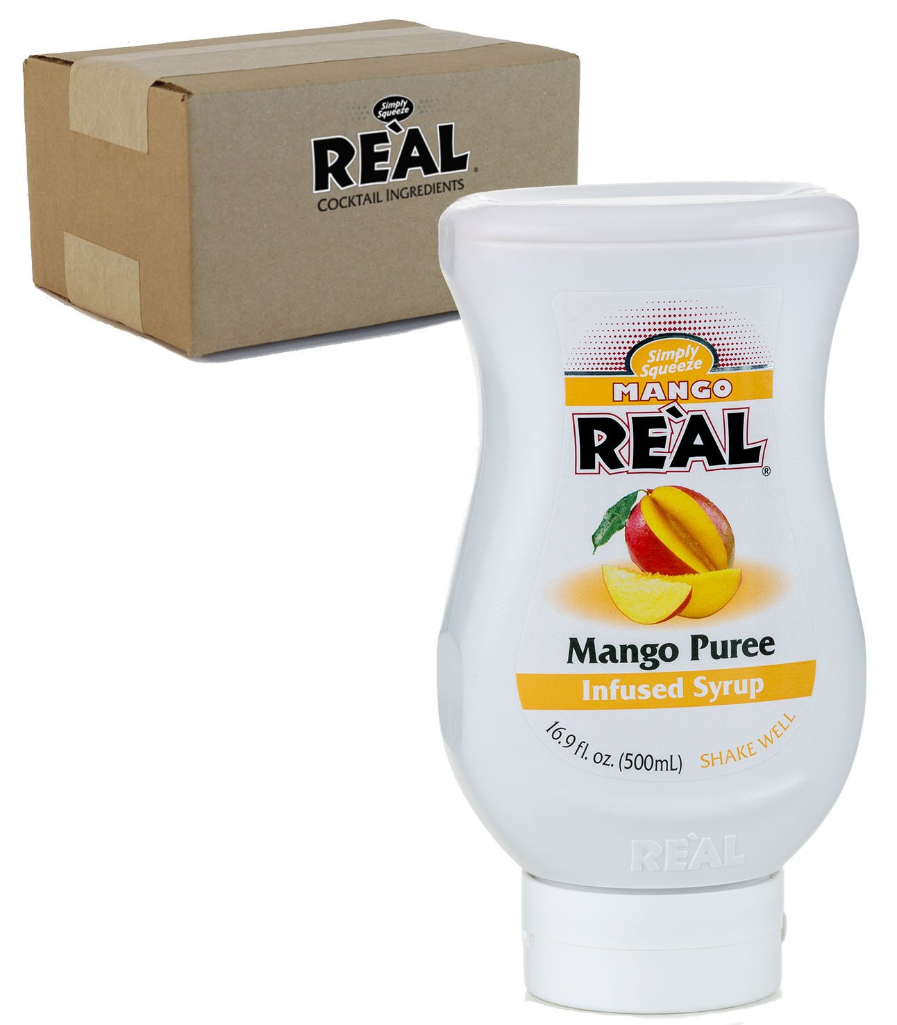 Mango Reàl, Mango Puree Infused Syrup, 16.9 FL OZ Squeezable Bottle (Pack of 1)
