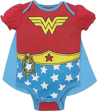 DC Comics Disfraz de Wonder Woman Body con Capa para Bebé-Niñas: Amazon.es: Ropa y accesorios