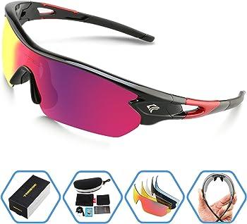 Torege Polarized Sports Sunglasses with 5 Interchangeable Lenes