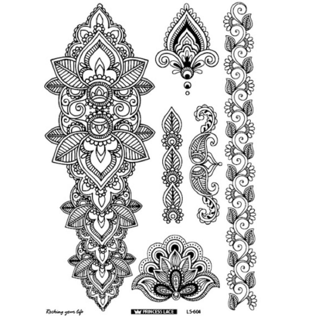 Buy Latest Eco Friendly Henna Temporary Body Tatoo Indian Mandala