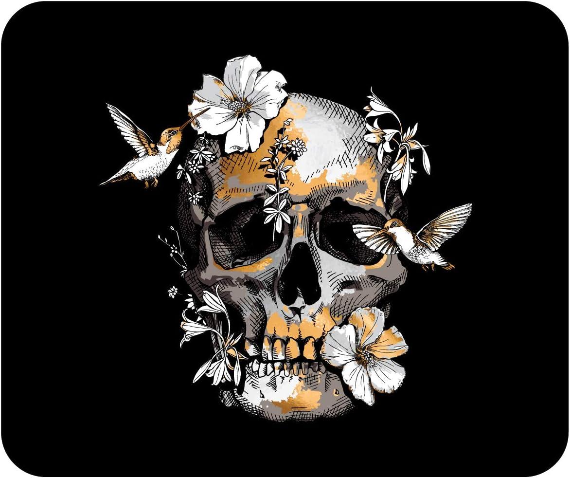 OTM Essentials Black Mouse Pad Hibiscus Skull