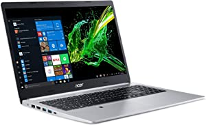 "Acer Aspire 5 Slim Laptop, 15.6"" Full HD IPS Display, 10th Gen Intel Core i5-10210U, 8GB DDR4, 256GB PCIe NVMe SSD, Intel Wi-Fi 6 AX201 802.11ax, Fingerprint Reader, Backlit KB, A515-54-59W2 (Renewed)"