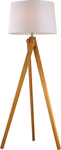 Dimond Lighting D2469 Wooden Tripod Floor Lamp