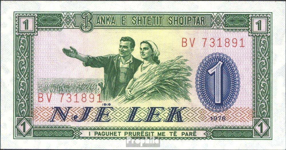 Albania Pick-No.: 40a 1976 1 Lek (Banconote ) Prophila Collection