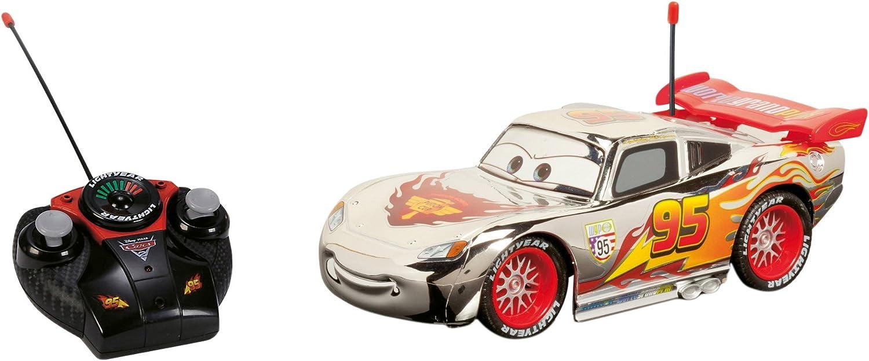 Majorette- Disney Cars Coche con Radio Control Rayo Mcqueen, Color Plateado (Simba 213089580)